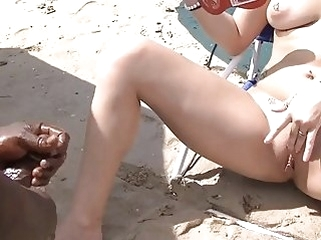 public nudity beach Voyeurchamp.com Beach Teasing Wives Mrs Ginary & Mrs Brooks!