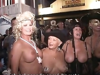 public nudity amateur Key West Fantasy Fest Festival Part 1