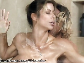 milfs showers Lady Snowy Step-Mommy Alexis Fawx Nimble on tap Nuru Massage!