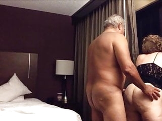 blonde amateur Old big ass wife fucked from behind in the hotel room