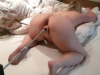 sex toy amateur Hot Wife Fucking Machine Orgasm