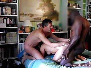 blowjob anal Cuckold with very big cock black lover