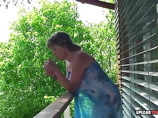 mature amateur Mature shows her tits and plays with herself