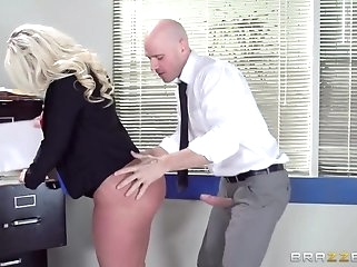 blonde big butt Big Tits at Work: On The Cock While On The Clock. Julie Cash, Johnny Sins
