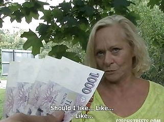 blowjob blonde granny czech streets casting fuck for money